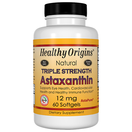 Healthy Origins Astaxanthin 12mg Triple Strength, Softgels - 60 ea