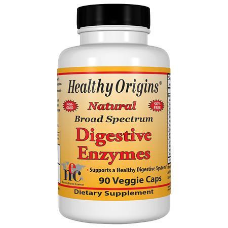 Healthy Origins Natural Broad Spectrum Digestive Enzymes, Veggie Capsules - 90 ea