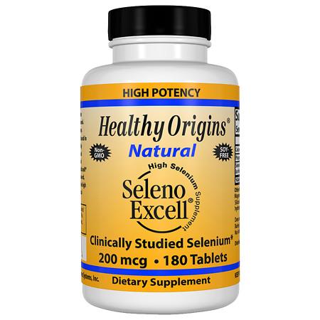 Healthy Origins Seleno Excell 200mcg, Tablets - 180 ea