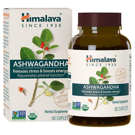 Himalaya Herbal Healthcare Ashwagandha, Anti-Stress & Energy, Caplets - 60 ea