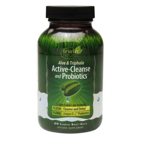 Irwin Naturals Active-Cleanse & Probiotics, Soft-Gels - 60 ea