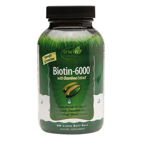 Irwin Naturals Biotin-6000 with Bamboo Extract, Softgels - 60 ea