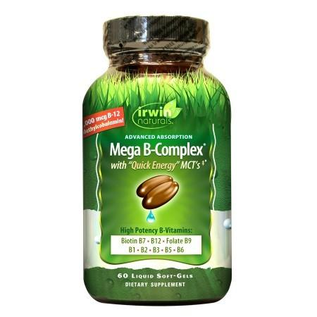Irwin Naturals Mega B-Complex with Quick Energy, Softgels - 60 ea