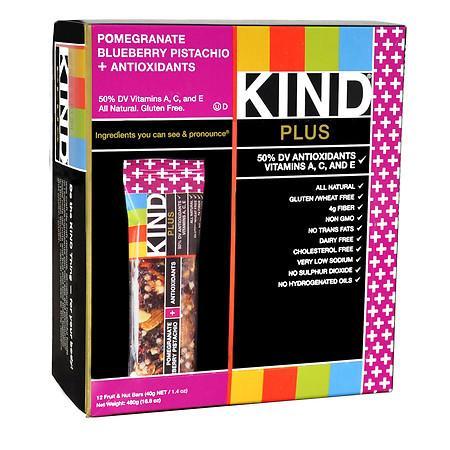 KIND Plus Nutrition Bars Pomegranate Blueberry Pistachio + Antioxidants - 1.4 oz.