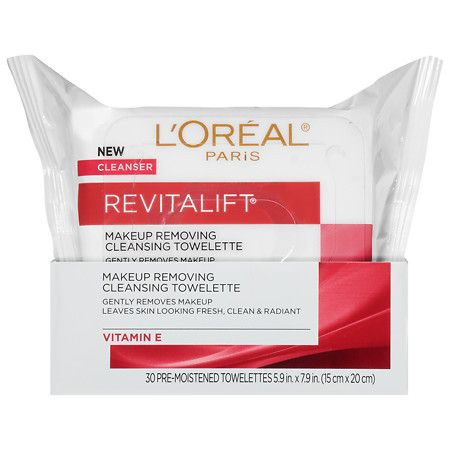 L'Oreal Paris Revitalift Radiant Smoothing Facial Cleansing Towelettes - 30 ea