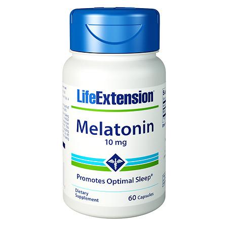 Life Extension Melatonin 10mg, Capsules - 60 ea