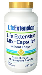 Life Extension Mix™ Capsules without Copper, 360 capsules