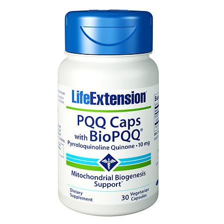Life Extension PQQ Caps with BioPQQ, 10mg, Vegetarian Capsules - 30 ea