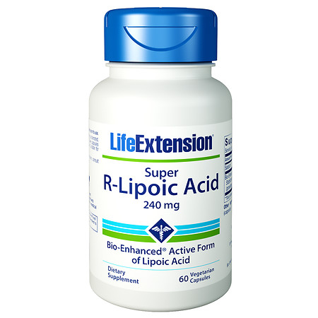 Life Extension Super R-Lipoic Acid, 240mg, Vegetarian Capsules - 60 ea