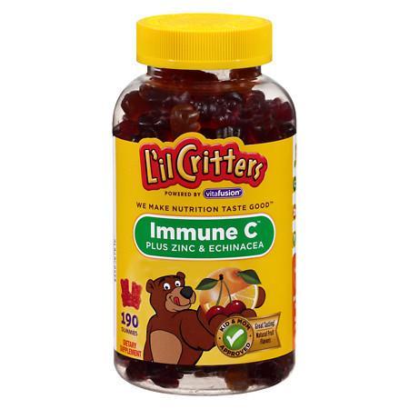 L'il Critters Immune C Plus Zinc and Echinacea, Gummy Bears Natural Fruit Flavors - 190 ea