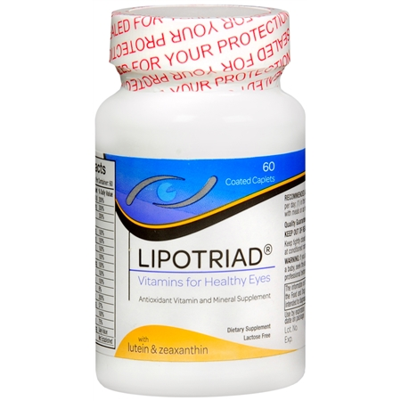 Lipotriad Eye Vitamin & Mineral Supplement AREDS Formula - 60 ea