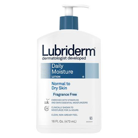 Lubriderm Daily Moisture Fragrance Free Lotion, For Normal to Dry Skin - 16 fl oz