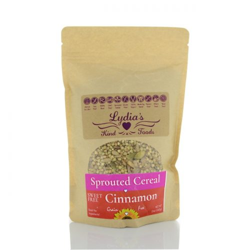 Lydia's Kind Foods Sprouted Sweet Free Cinnamon Cereal, 12 oz