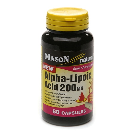 Mason Natural Alpha-Lipoic Acid 200mg, Capsules - 60 ea