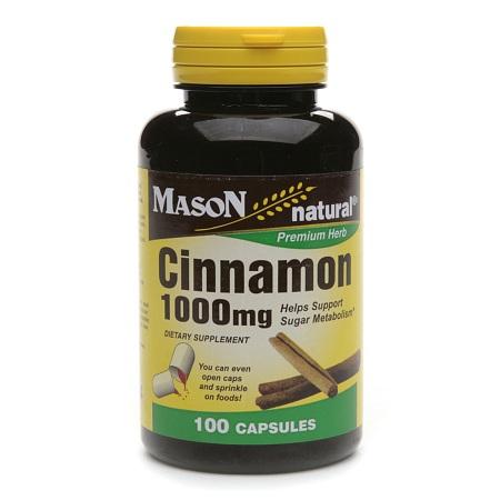Mason Natural Cinnamon, 1000mg, Capsules - 100 ea