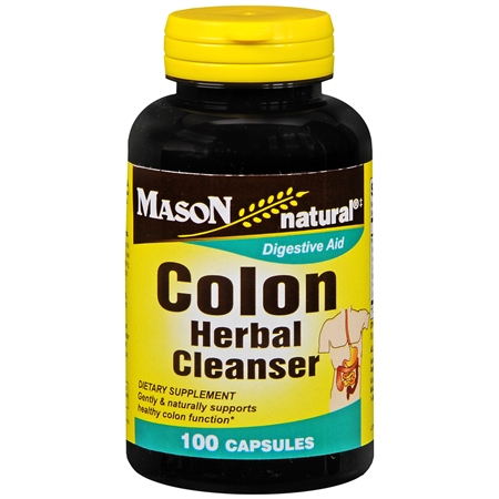 Mason Natural Colon Herbal Cleanser, Capsules - 100 ea