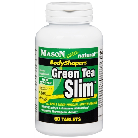 Mason Natural Green Tea Slim, Tablets - 60 ea