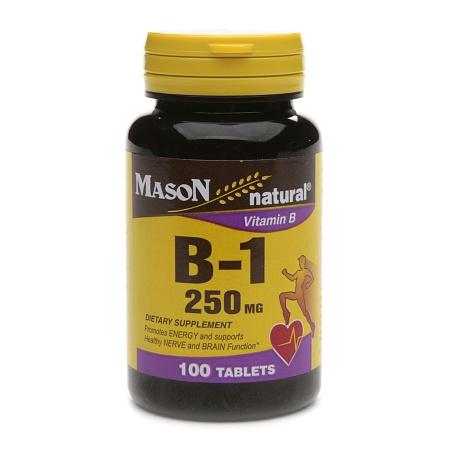 Mason Natural Vitamin B-1 250mg, Tablets - 100 ea
