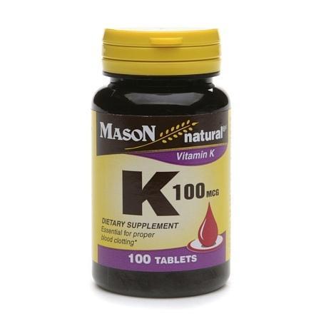 Mason Natural Vitamin K, 100mcg, Tablets - 100 ea