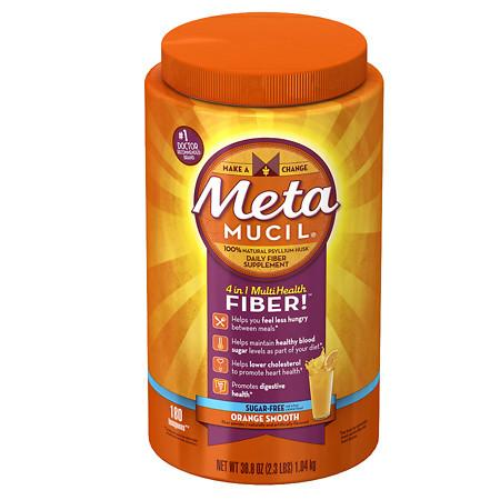 Metamucil Psyllium Daily Fiber Supplement Orange Smooth - 36.8 oz.