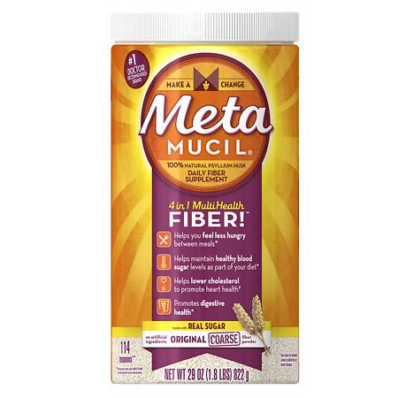 Metamucil Psyllium Daily Fiber Supplement Original Coarse Powder - 29 oz.