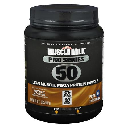 Muscle Milk Pro Series Mega Protein Powder Chocolate - 32 oz.