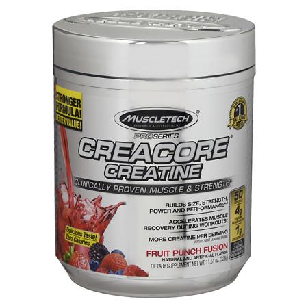 Muscletech CreaCore Supplement Fruit Punch Fusion - 11.51 oz.