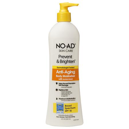 NO-AD Prevent & Brighten Anti-Aging Body Moisturizer SPF 15, Lotion - 12 fl oz
