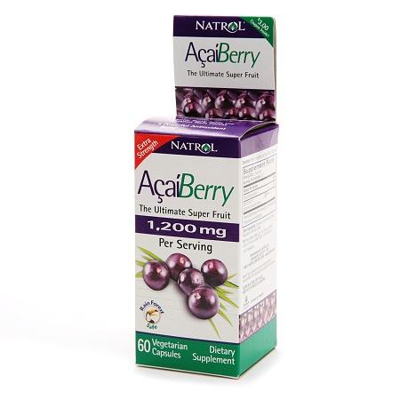 Natrol Acai Berry 1200 mg Dietary Supplement Capsules - 60 ea