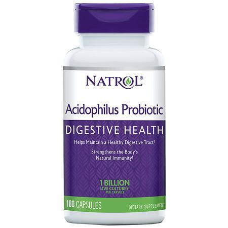Natrol Acidophilus Probiotic, Capsules - 100 ea