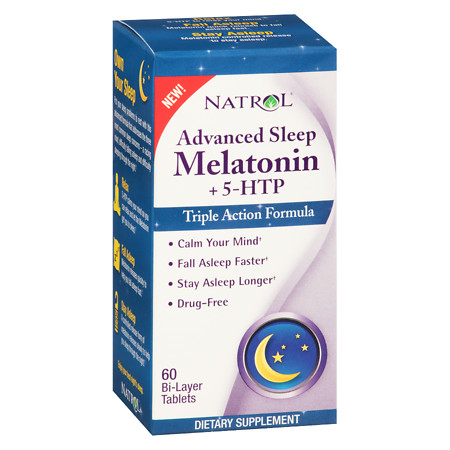 Natrol Advanced Sleep Melatonin+5-HTP Tablets - 60 ea