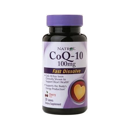 Natrol CoQ10 100 mg, Fast Dissolve, Tablets Cherry - 30 ea