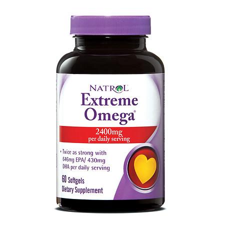 Natrol Extreme Omega Fish Oil 1200 mg - 60 ea