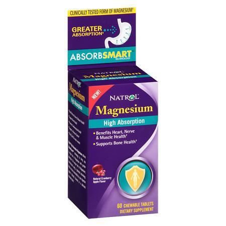 Natrol High Absorption Magnesium Cranberry Apple - 60 ea
