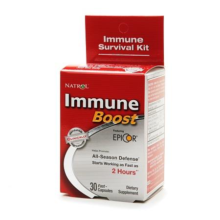 Natrol Immune Boost, All Season Defense, Fast Capsules - 30 ea