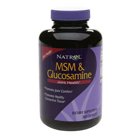 Natrol MSM & Glucosamine Dietary Supplement Capsules - 360 ea