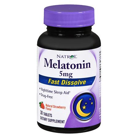 Natrol Melatonin 5 mg Fast-Dissolve Strawberry - 30 ea