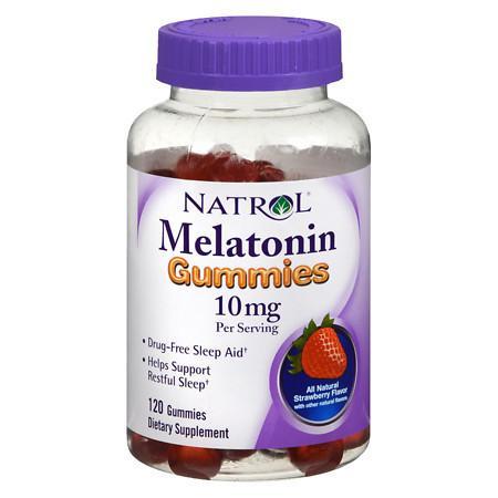 Natrol Melatonin Gummies 10 mg Strawberry - 120 ea