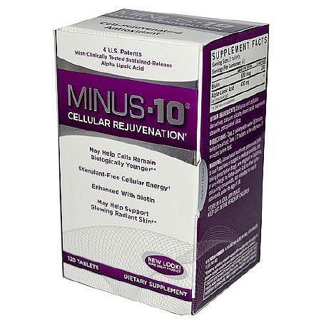 Natrol Minus-10 Cell-Rejuvenating Antioxidant, Tablets - 120 ea