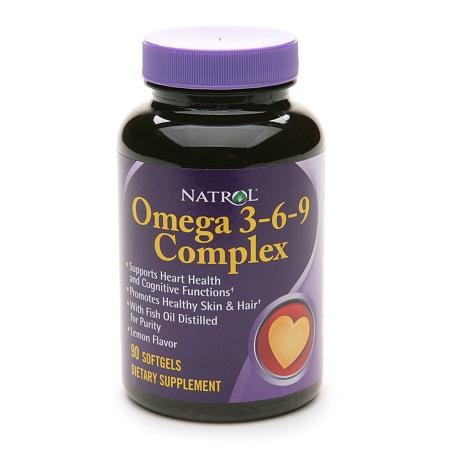 Natrol Omega 3-6-9 Complex Dietary Supplement Softgels - 90 softgels