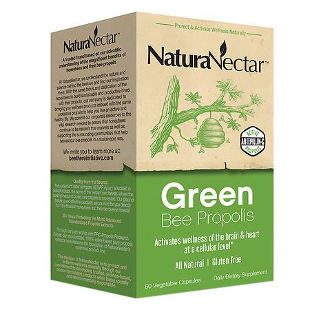 NaturaNectar Green Bee Propolis, Vegetarian Capsules - 60 ea