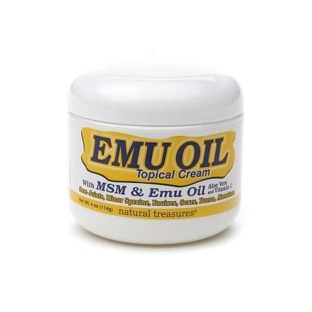 Natural Treasures Emu Oil Topical Cream - 4 oz.