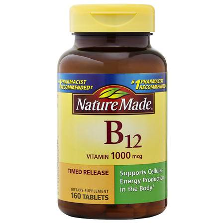 Nature Made B-12 Vitamin 1000 mcg Dietary Supplement Tablets - 160 ea