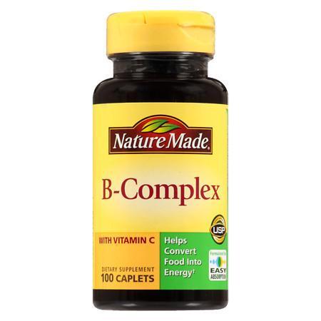 Nature Made B-Complex Dietary Supplement Caplets - 100 ea
