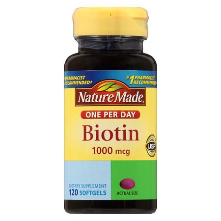 Nature Made Biotin Softgels 1000 mcg - 120 ea