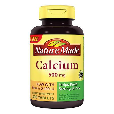 Nature Made Calcium 500 mg Dietary Supplement Tablets - 300 ea