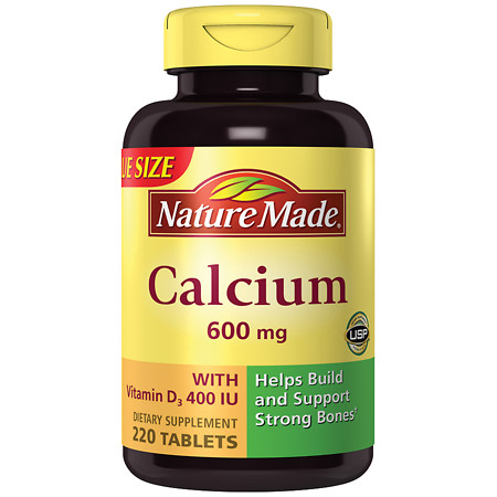 Nature Made Calcium 600 mg Dietary Supplement Tablets - 220 ea