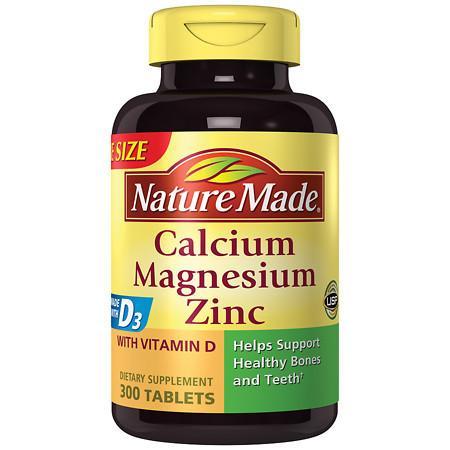 Nature Made Calcium, Magnesium & Zinc, Tablets - 300 ea