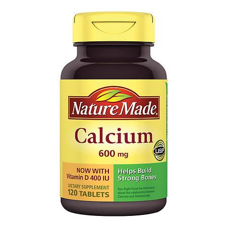 Nature Made Calcium with Vitamin D, 600mg, Tablets - 120 ea