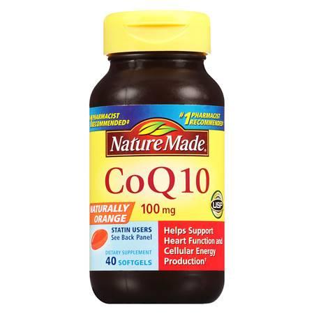 Nature Made CoQ10 100 mg Dietary Supplement Liquid Softgels - 40 ea